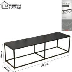 Zwarte Urban Living - Metalen TV-meubel/Dressoir - Industrieel Design