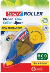 Tesa® Tesa Roller Non-Permanent Gluing ecoLogo, repositionable,14m:8.4mm,refill system