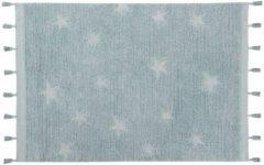 Hippy Stars Aqua Blue | Vloerkleed - Lorena Canals Wasbaar Vloerkleed Hippy Stars | Aqua Blue