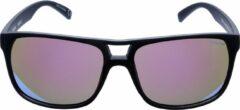 ICON Sport Zonnebril TEMPO - Zwart montuur met rubber finish - Blauw spiegelende glazen - GEPOLARISEERD