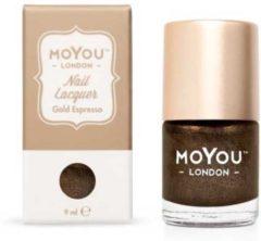 Mo You London MoYou London Stempellak - Gold Espresso - Bruin Shimmer