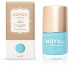 Turquoise Mo You London MoYou London - Stempel Nagellak - Stamping - Nail Polish - Beach House - Blauw