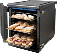 Zwarte Frontlader thermobox 60x40 - 11 regalen - Thermo Future Box