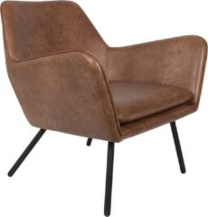 Wants and Needs Wants&Needs Fauteuil Draw Leder bruin 78 x 80 x 76