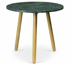 Unknown Lanterfant® Flo L- Tafel - Indian groen Marmer - Eikenhout