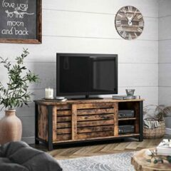 AZ-Home - Tv Meubel Retro 110 x 40 x 45 cm - Tv kast - Lowboard vintage, donkerbruin