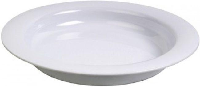 Afbeelding van Witte Adhome Asymmetrisch bord Ornamin Vital 20 cm - volledig wit