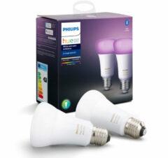 Philips Lighting Hue LED-lamp Energielabel: A+ (A++ - E) Set van 2 stuks White and Color Ambiance E27 9 W N/A