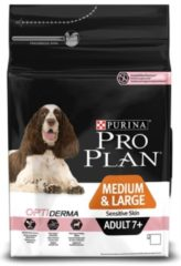 PURINA® PRO PLAN® Hond Medium & Large Adult 7+ Sensitive Skin met OPTIDERMA® Rijk aan Zalm droge brokken 3 kg