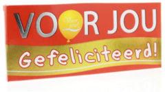 Voor Jou! Wensreep Melkchocolade Voor Jou! Gefeliciteerd (70g)