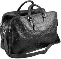Reisetasche Leder 60 cm Dermata schwarz
