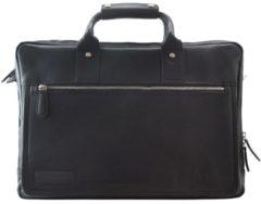 Plevier 270er Serie Aktentasche Leder 44 cm Laptopfach Damen schwarz