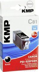 KMP Inkt vervangt Canon PGI-525 Compatibel Zwart C81 1513,0001