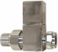 Linea Uno - Radiator kraan recht chroom TYPE 12 - Chroom - 409012
