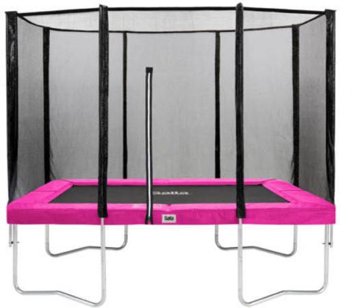Afbeelding van Salta Combo trampoline met veiligheidsnet rechthoekig - 153 x 213 cm - roze