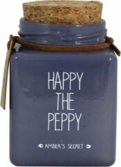 My Flame Lifestyle scented soy candle blue happy the peppy