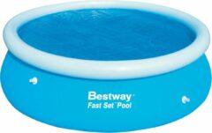 Bestway Afdekzeil Fast Solar Rond Blauw 244 Cm