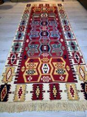 Sunar Home Kelim vloerkleed Sorkun -Kelim kleed - Kelim tapijt - 80x300 cm - Loper - Turkish Kelim - Oosterse vloerkleed