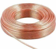 Luidspreker kabel 2x 0,50 mm / transparant (koper) - 25 meter