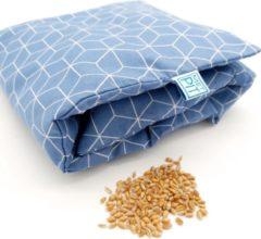 Pittenzak XL Met Pit! – Extra lang - Wasbare hoes - Zachte/geurloos tarwe – Pittenkussen - Made in NL – Blauw grafisch