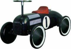 Goki Loopauto nummer 1 zwart