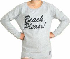 Addmyberry - Trui - Grijs - Beach Please - Medium