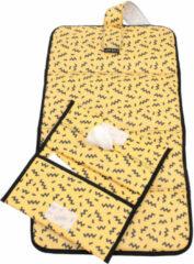 KipKep Napper combiverschonings-set (matje + etui) geel/zwart