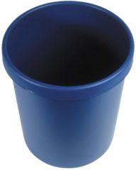 Grijze Helit Afvalbak 30l blauw
