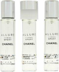3x20ml Chanel Allure Homme Sport Eau De Toilette Travel Spray Refills