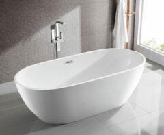 Aqualine Douro vrijstaande badkuip 180x80cm glans wit