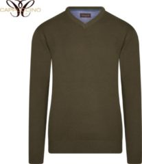 Cappuccino Italia - Heren Sweaters Pullover Army - Groen - Maat M