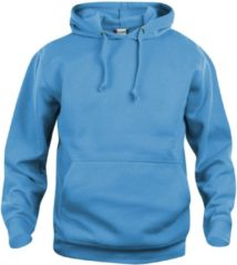 Clique Basic hoody Turquoise maat S