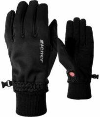Zwarte Ziener Soft Shell +Gore-Tex handschoenen