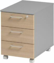 Gamillo Furniture Ladeblok Jazz 2 van 60 cm hoog in beuken met licht grijs