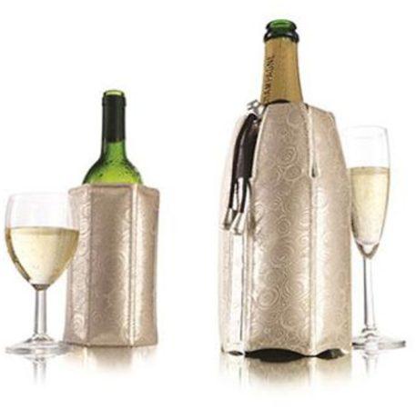 Afbeelding van Zilveren Vacu vin Rapid Ice Active Wijn- en Champagne Cooler - Platinum