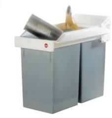 Afvalscheidingssysteem 28 l Hailo Multi-Box Duo L (b x h x d) 262 x 505 x 448 mm Grijs, Wit 1 stuks