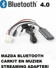 Zwarte Uwautoonderdeel.nl Mazda 2 3 5 MX5 6 RX8 Bluetooth carkit en muziek streaming adapter aux module Dongle Mp3 AD2P