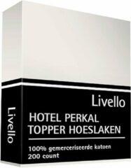 Livello Hotel Hoeslaken Perkal topper Ivoor 140x200x8