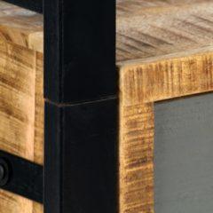 Bruine VidaXL Boekenkast 50x30x170 cm massief mangohout