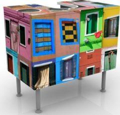 PPS. Imaging Waschbeckenunterschrank - Fenster der Welt - Badschrank Bunt