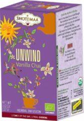 "Kruidenthee - Shoti Maa Sundial ""Unwind-Détente Du Soir"" Vanille Chai BIO (6 doosjes)"