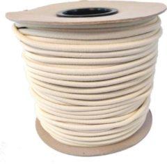 Zandkleurige ABC-Led Elastisch Touw - zand - 8mm - elastiek per meter