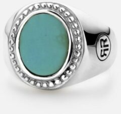 Rebel & Rose Rebel and Rose RR-RG019-S Ring Women Oval Turquoise zilver Maat 49