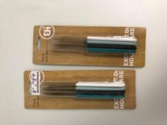 Lichtblauwe Merkloos / Sans marque Een set van 2 pakjes bestekmessen