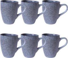 Blauwe Fil servies© - Koffiekopjes - Koffiekopjes set van 6 - Mokken - Thee mok - Keramisch - 6 stuks