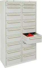 Stumpf Metall Stumpf® ST 420 plus Schubladenschrank mit 18 Schubladen, lichtgrau - 180 x 100 x 50 cm