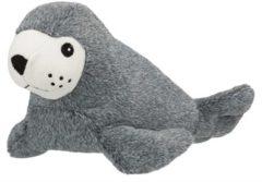 Grijze Trixie Dierenartikelen Hondenknuffel zeehond 30 cm