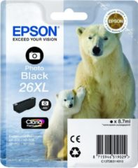 Zwarte Epson 26XL T2631 - Inktcartridge / Foto Zwart / Hoge Capaciteit