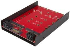 StarTech Adattatore M.2 ( NGFF ) x4 SATA per alloggiamento bay da 3,5 - Adattatore per 4-drive NGFF a SATA
