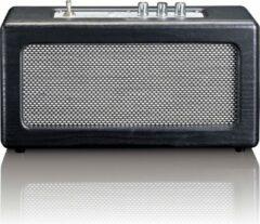 Lenco BT-300 - Bluetooth speakers in retro design - Zwart